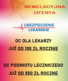 ubezpieczenia dla lekarzy, lekarzy dentystów, pielęgniarek i położnych, personelu medycznego